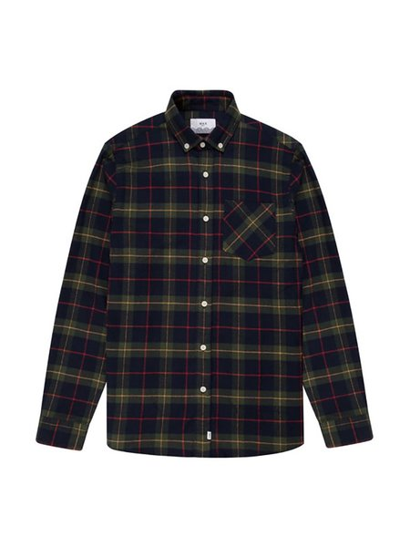 Wax London Thirsk Shirt - Navy Check