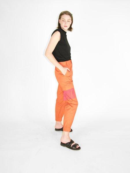 Irene Daye Janice Cargo Pant - Fringed Orange