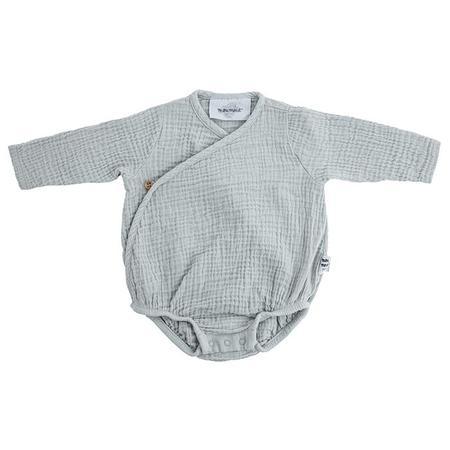 KIDS Moumout Paris Flora Muslin Bodysuit - Almond Green