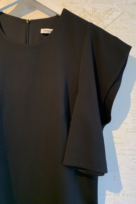 Camilla and Marc Mercury Boxy Top with Exaggerated Shoulder
