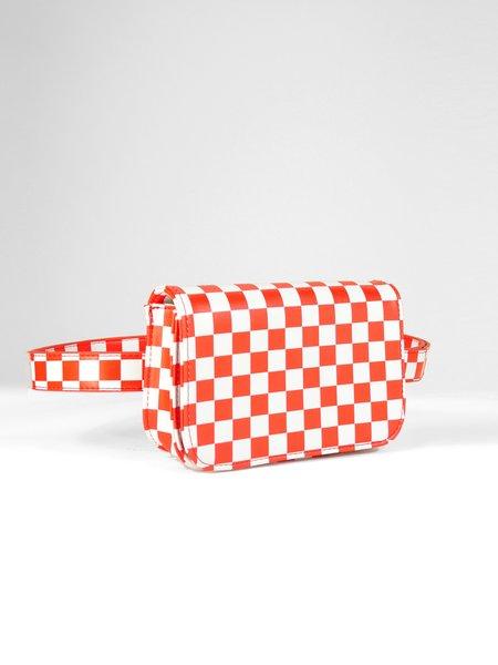 H&D Surrender Belt Bag - Red Grid
