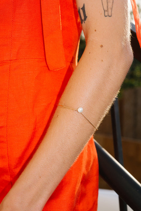 Eyde The Izso Bracelet - 14K gold/pearl