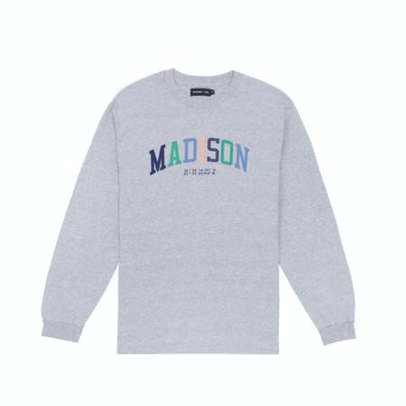 Madison-USA L/S Collegiate T-Shirt - Grey