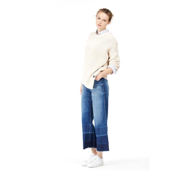 closed asymmetrical sweater