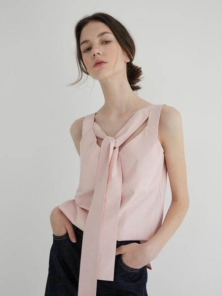 Marron Edition Cotton Sleeveless Top - Pink