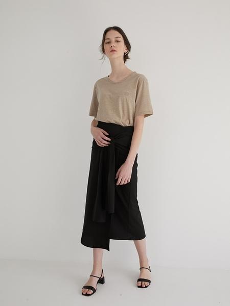 MARRON EDITION Shirts Layered Skirt - Black