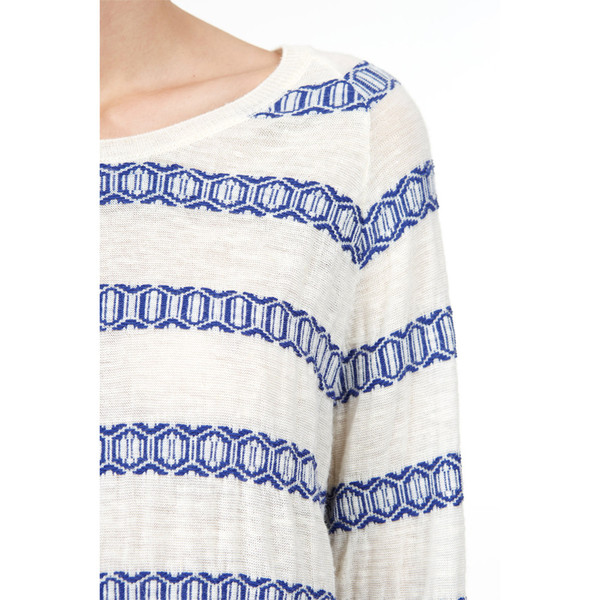 closed jacquard sweater