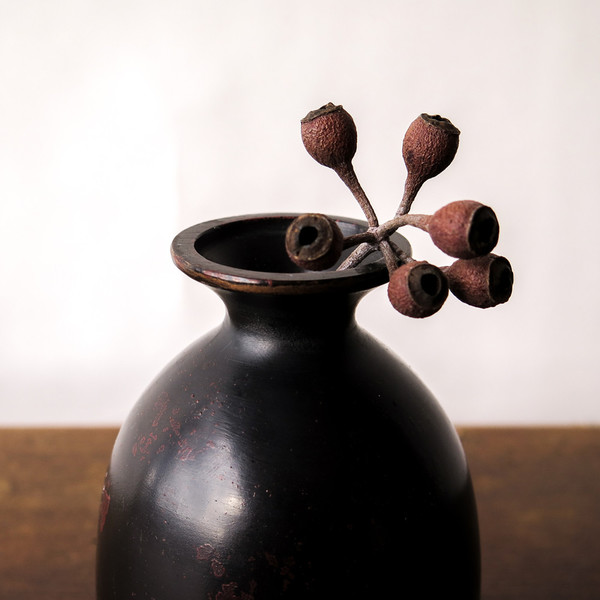 japanese cast bronze vase