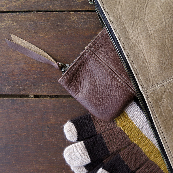 Erica Tanov leather coin pouch