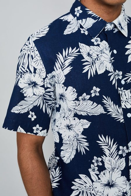 Native Youth Steen Shirt - navy floral