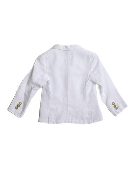 Kids 120% Lino Linen Jacket - White