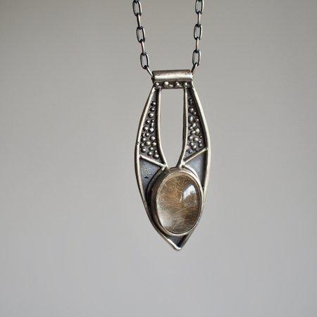 Acid Queen Jewelry Ara Pendant Necklace - Rutilated Quartz/Sterling Silver