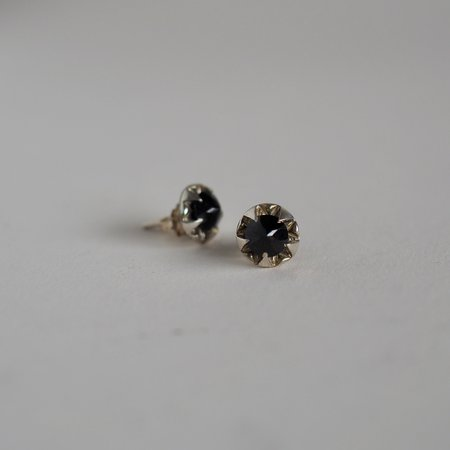 Allison Bartline Black Spinel Pulsar Stud Earrings - Recycled 10k yellow gold