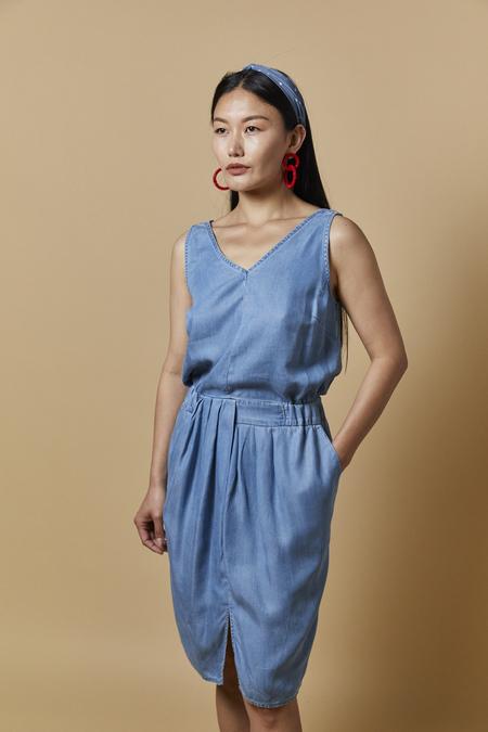 Ichi Ihclaza Denim Dress - Chambray