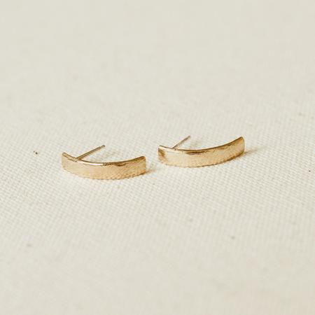KIKI KOYOTE INERTIA EARRINGS - BRASS