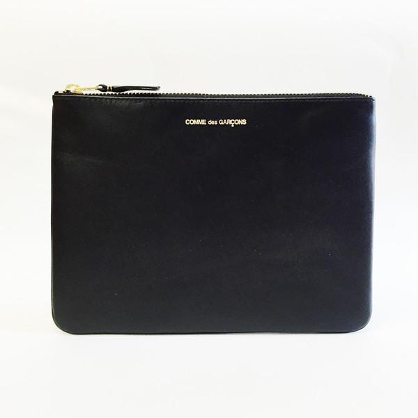 Comme des Garcons - Classic Leather Large Black Zip-up Pouch