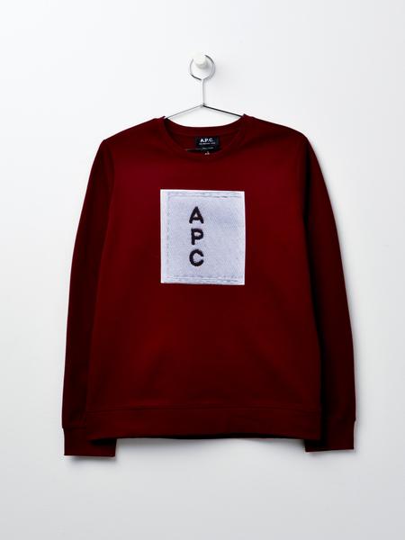 A.P.C. Logo Sweat F - Bordeaux