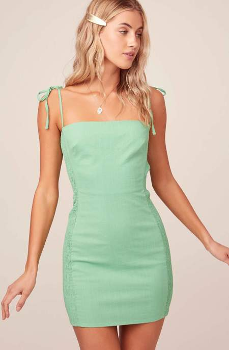 ASTR The Label Lena Bodycon Dress - Lime
