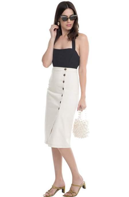 ASTR The Label Eileen Skirt - Natural
