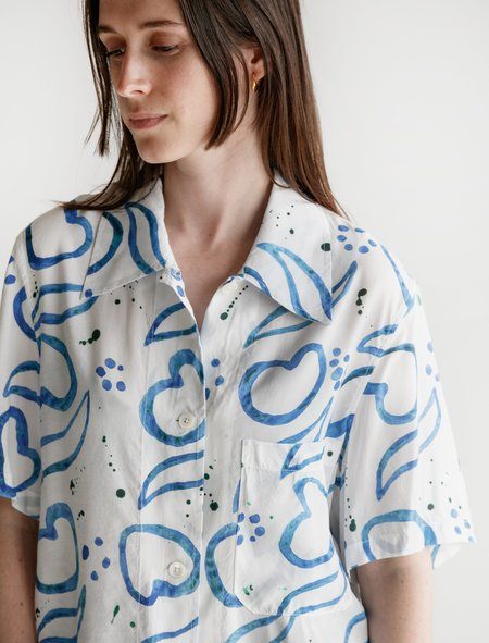 Our Legacy Short Sleeve Square Shirt - Handpainted Tiles
