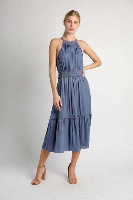 Current Air Halter Neck Dress - Dusty Blue