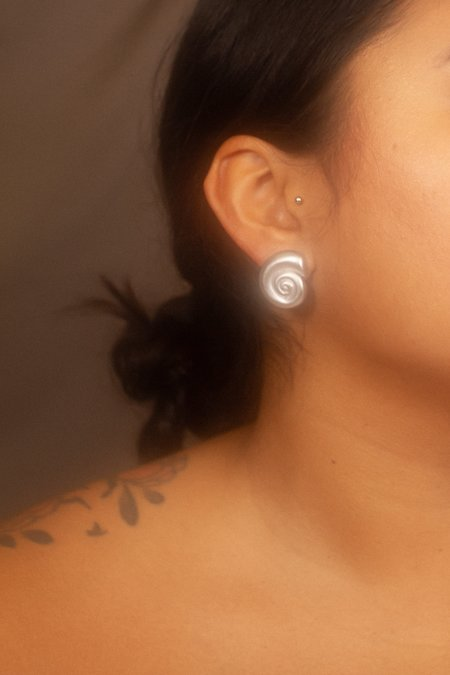 Leigh Miller Nautilus Studs - Sterling Silver