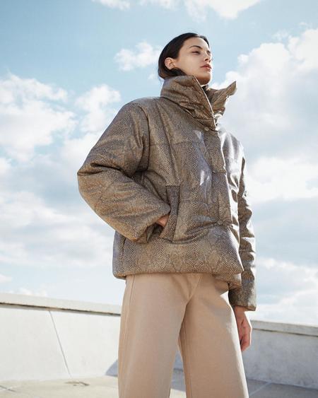Nanushka HIDE Puffer jacket - Brown
