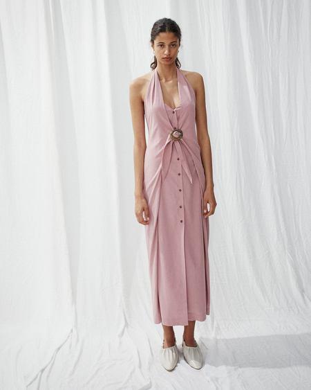 Nanushka LIYA Halter neck dress - Dusty pink