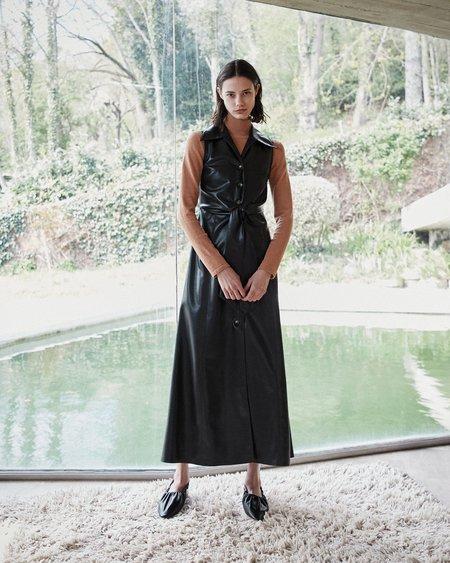 Nanushka SHARMA Tie front sleeveless dress - Black