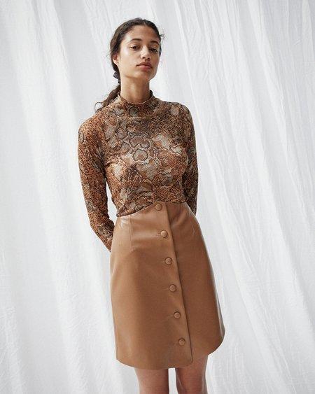 Nanushka SILS Button front mini skirt - Brown