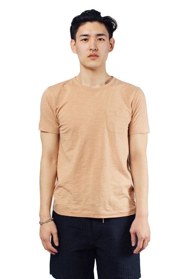 Men's YMC Classic Pocket Tee Pink