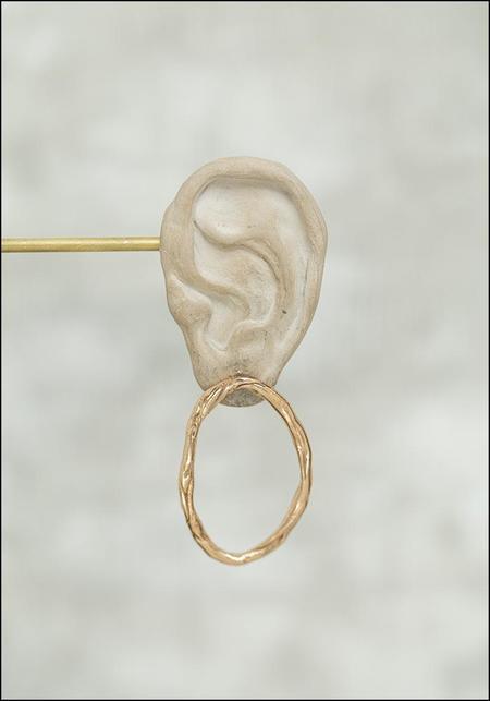Miriam Nori Asymmetric Ovoids Earrings - Bronze