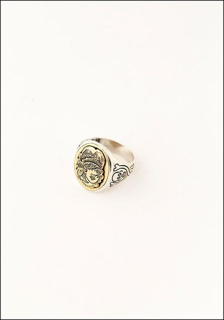 Unisex LHN Nomad Signet Ring - Silver/Brass