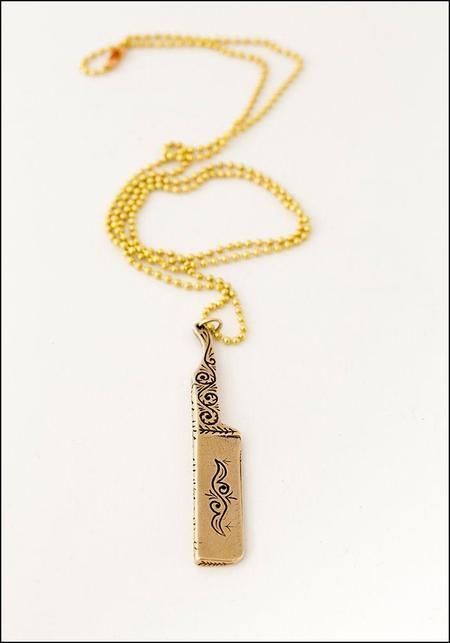 Unisex LHN Razor Blade Necklace - bronze
