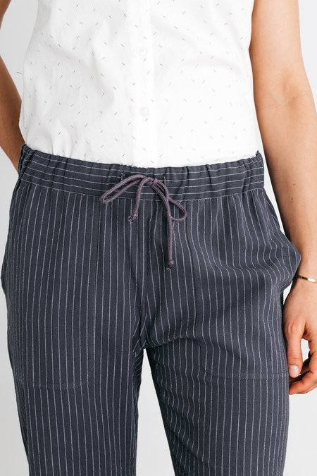 Bridge & Burn Clipper Pants - Charcoal Pinstripe
