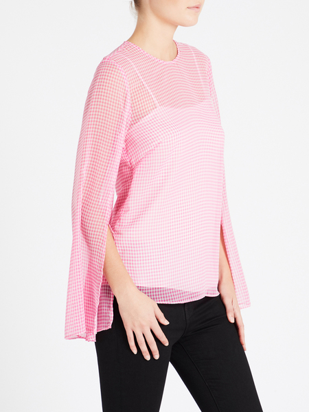 Camilla and Marc Carmen Top - Pink Gingham