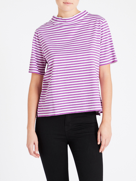 MiH Jeans Penny Tee - Grape/White