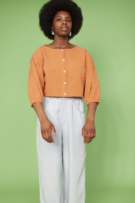 L.F.Markey Fleet Shirt - Burnt Orange