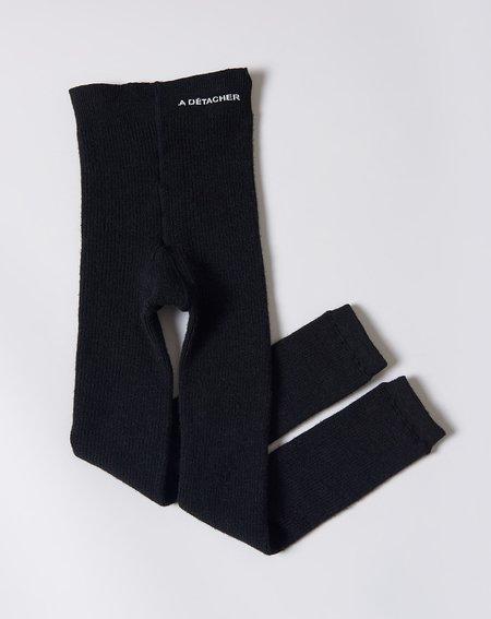 A Détacher Heavy Knit Rib Leggings - Black