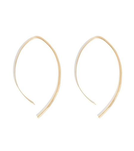 "Melissa Joy Manning 1"" Wishbone Hoops - Gold"