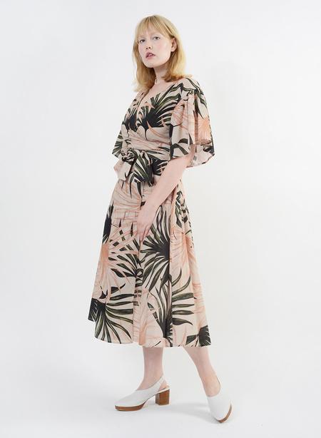 Meg Bali Wrap Dress - Palm Print