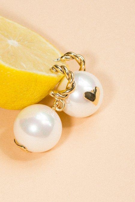 Luiny Interlace Pearl Earrings