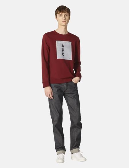 A.P.C. H Logo Sweatshirt - Red