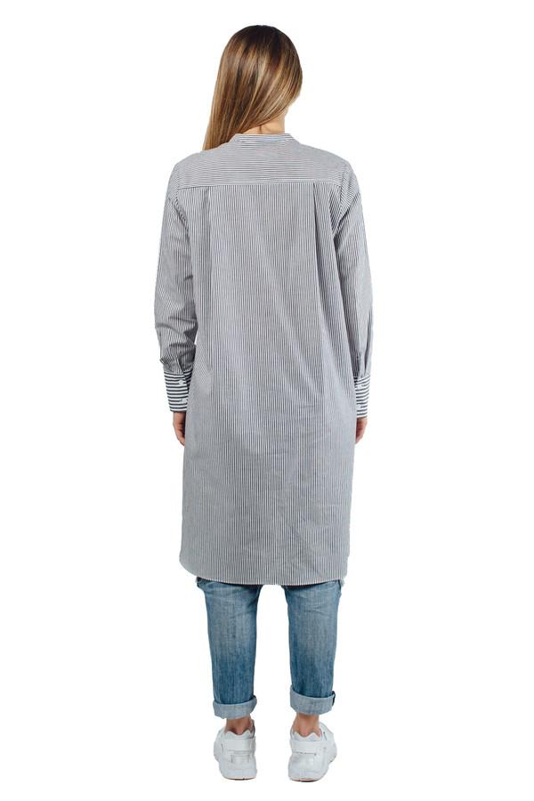WU+SEN Meres Shirt Grey Stripe