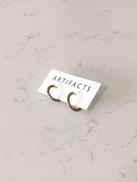 Artifacts Small Arc Hoop Earrings - Brass
