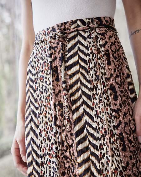 Nanushka INDIRA Slit skirt with belt - Grannimal