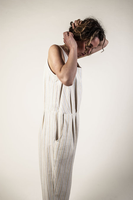 F O L D Jumpsuit - Cream Stripe