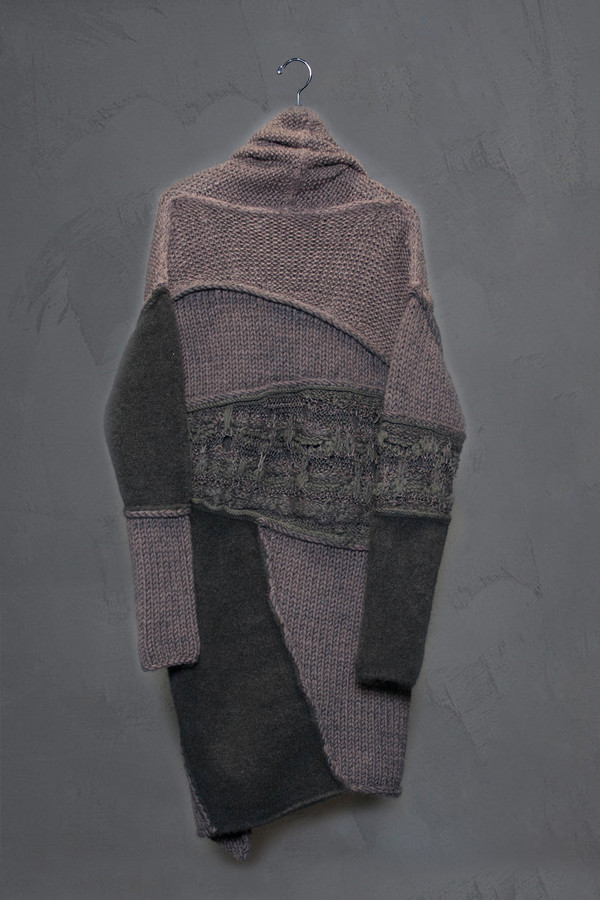 Isabel Benenato Patchwork Cardigan