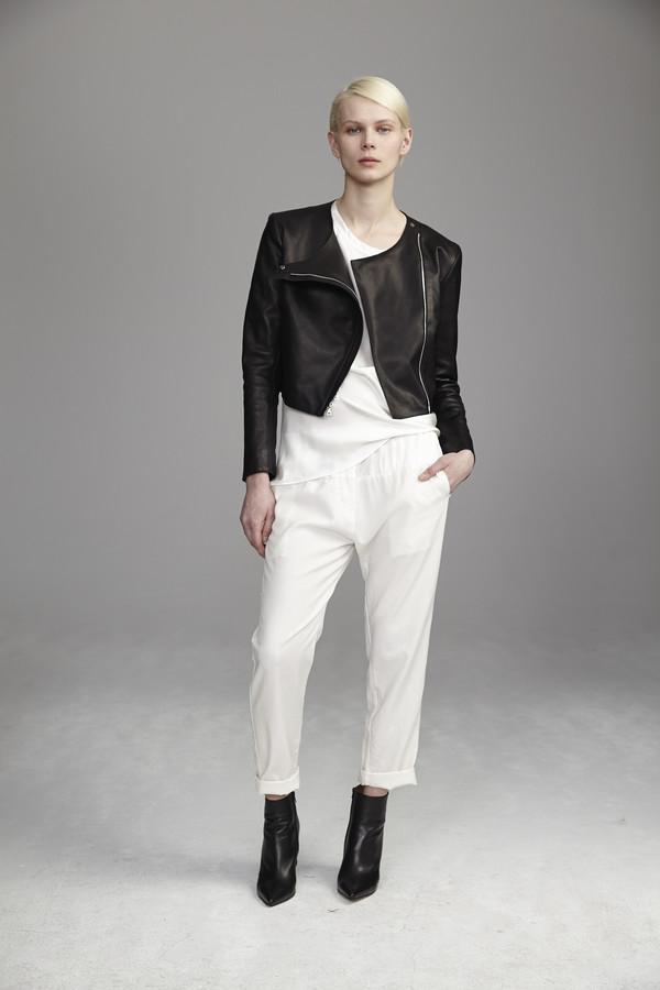KES Minimal Leather Jacket