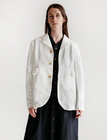 Comme des Garçons Shrunken Twill Workwear Jacket - White